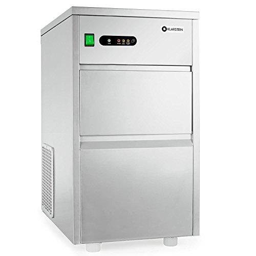 Klarstein Powericer King macchina per cubetti ghiaccio uso industriale (240 Watt, produzione di 20 kg in 24 ore, scompartimento da 5 kg) - acciaio