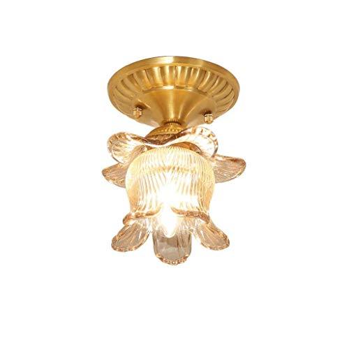 Wandverlichting, glazen bol, semiffend, exquisiet, van koper, materiaal in bloem, koper, romantische sfeer, metaal