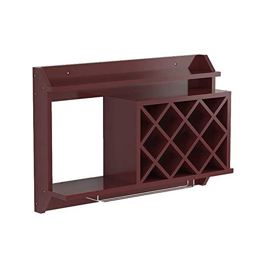 Estante para vinos Gabinete para estantes para vino montado en la pared Rejilla creativa Colgante Botella de vino Estante para copas de vino Estante para copas Estantes para copas Decoración de pared