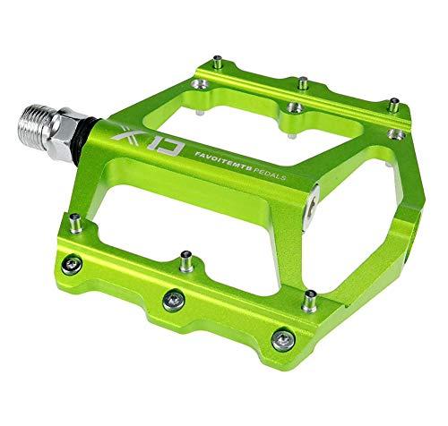 Yuzhijie Flat Mountain Bike Bearing Pedal Mantis Green Pedal Non-slip, Green