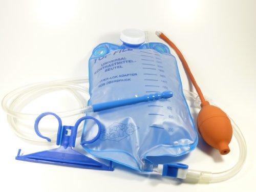 Klistierbeutel 3 Liter mit Gebläse und Beutelaufhänger, Einlauf - Klistier