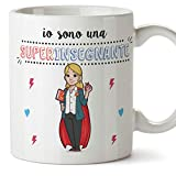 Mugffins Insegnante. Professoressa Tazze Originali di caffè e Colazione da Regalare Lavoratori e Professionisti - Io Sono Una Super Insegnante - Cera
