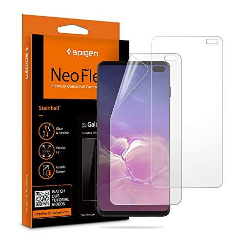 Spigen, 2Pezzi, Pellicola Compatible con Galaxy S10 Plus, NeoFlex, Compatibile con Il sensore a ultrasuoni, TPU, Non Vetro, Copertura Completa, Applicazione...