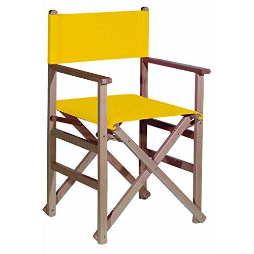 Aranaz 1003 Sillón Recto Plegable, Madera de Haya y loneta en Color, Amarillo