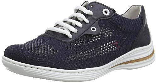 Rieker Damen Frühjahr/Sommer M3506 Sneaker, Blau (Pazifik/Pazifik 14), 39 EU