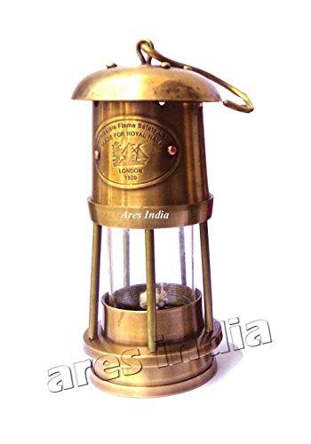 "10/"" New Vintage Style Brass Nautical Miner Ship Lantern Oil Lamp Maritime"