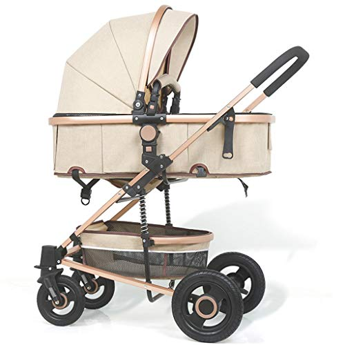 Lowest Prices! High Landscape Baby Stroller Shock Absorber Can Sit Reclining Stroller Two-Way Implem...