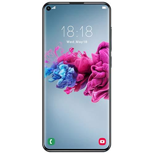 ZXYSR Smartphone Offerta, Y50 PRO Cellulari Offerte (2020) 7.2' HD+ Schermo 4GB RAM 64GB Rom 5000Mah Fotocamera 18MP+48MP 4G Dual SIM Sblocco con Impronta Digitale Posteriore, Telefonino,Nero