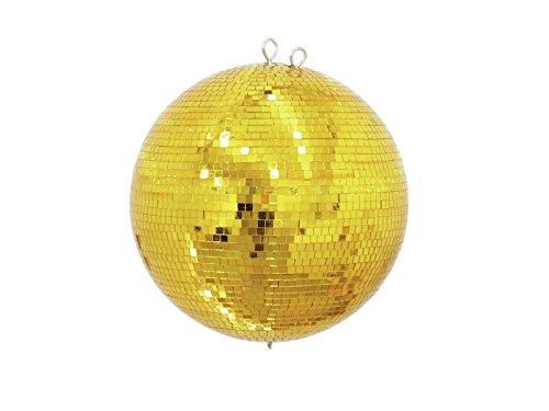 Eurolite Spiegelkugel 40cm gold | Sicherheits-Spiegelkugel mit goldenen Facetten | Lückenlose Verklebung der Echtglasfacetten
