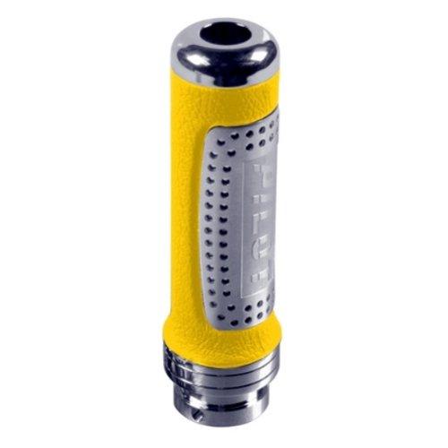 HBC03 - ALU Chrome Housse Poignée de frein à main Protecteur Couvercle Cover cuir jaune