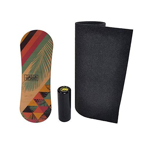 Trickboard Summer Balance Board Set: Board + Roller + Carpet + Sticker Free - Balance Training Skateboard Surfboard Snowboard Wakeboard
