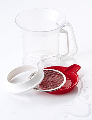 貝印『しっかり洗えてきれいに片づく粉ふるい(受け皿付)(DL6261)』