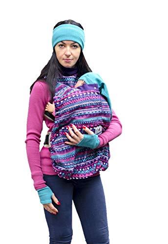 manduca by MaM Cold Weather Insert (Fleece Cover) > Boho Print < Tragecover & Schalkragen für Zwei (Baby & Mutter/Vater), auch getrennt nutzbar, Polar Fleece, für alle Babytragen & Tragetücher