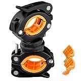 自転車 ライトホルダー 懐中電灯ホルダー 多機能 360度回転 3つのギアで調整可能 自転車 LED フラッシュライト ブラケット