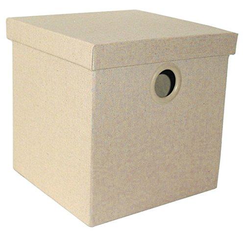 Alphaitalia Lino Pieghevole Storage Box, Beige, 26x 26x 26cm, Beige, 26 x 26 x 26 cm