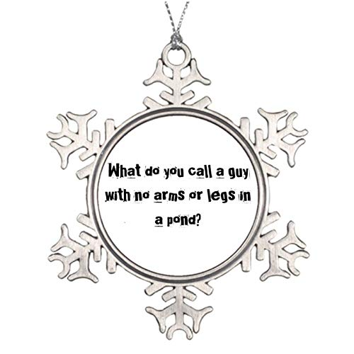 Christmas Ornaments, Bob The Manequin Pewter Ornament, Snowflake Ornament Tree Hanging Decor Gift,3 Inch