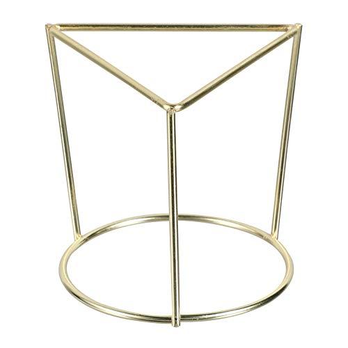 Angoily Gold Air Plant Holder Mini Metal Tabletop Himmeli Decor Geometric Air Planter Tillandsia Air Fern Soporte de Exhibición para Oficina en Casa Y Regalo de Boda