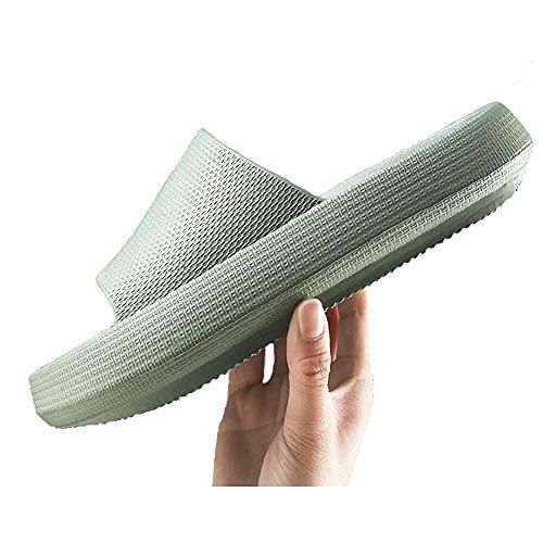 CYN Mujer Hombre Sandalias de Ducha, Zapatillas de Fondo de Interior para Interiores de EVA Pareja de Verano para Mujer Inicio Slippers Soft Soft Fondo de Goma-Verde_39EU-40EU