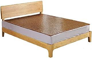 Qbedding Carbonized Bamboo Summer Sleeping Mat Cooling Mattress Topper Pad (Oriental, Queen)