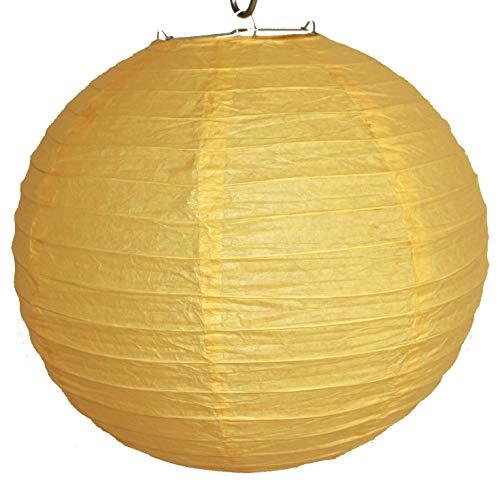 AAF Nommel®, 516, Lampion 1 Stk. Papier gelb unifarben japanisch rund Durchmesser 30 cm