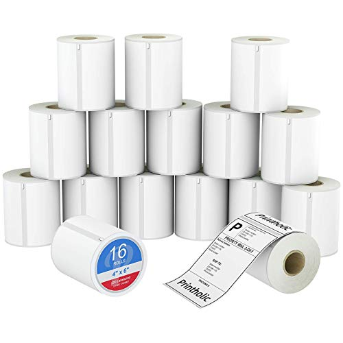 Printholic Compatible DYMO 1744907 4' X 6' Shipping Labels Compatible with Dymo LabelWriter 4XL Printer Direct Thermal Labels for Internet Postage Address Permanent Adhesive (16 Rolls,220 Count/Roll)