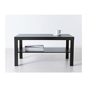 IKEA LACK coffee table, Standard, Black-brown