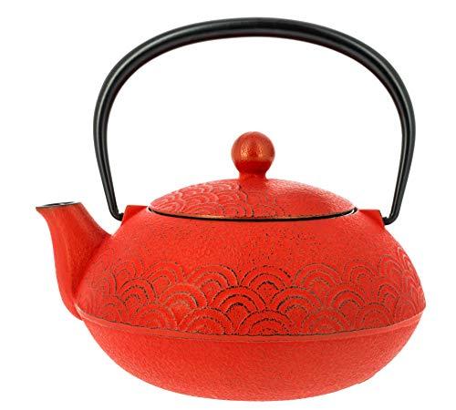 Iwachu TT12083RD Teapot Iron Wave rood, gietijzer, 16 cm