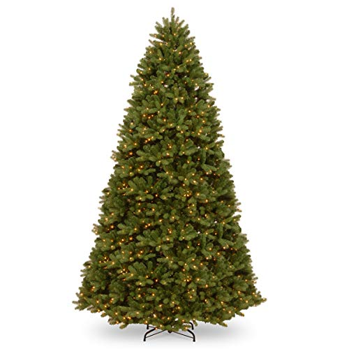 National Tree Company 'Feel Real' Pre-lit Artificial Christmas Tree | Includes Pre-strung Multi-Color LED Lights, PowerConnect and Stand | Newberry Spruce - 12 ft