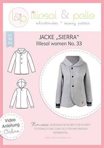 lillesol & pelle Schnittmuster lillesol Women No.33 Jacke Sierra in Größe 34-50 zum Nähen mit Foto-Anleitung und Video