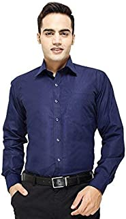 ZAKOD Plain Cotton Shirts for Men for Formal Use,100% Pure Cotton Shirts,Available Sizes M=38,L=40,XL=42,6 Colors Available