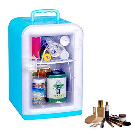 Mini frigorifero di bellezza con pannello trasparente/frigorifero per auto cosmetico portatile, utilizzato per il trucco e la cura della pelle, può essere utilizzato anche nel bar per auto di casa, A