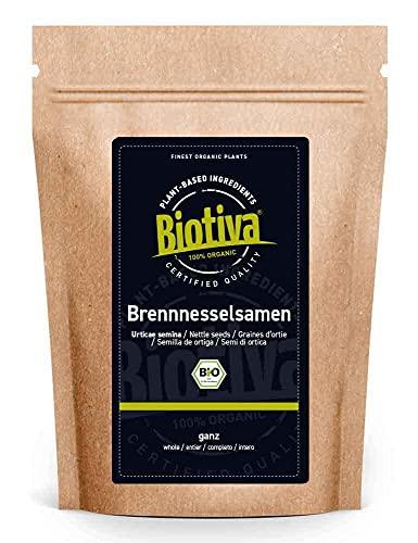 Semillas de ortiga enteras orgánicas 250g - de Alemania - certificada orgánica (DE-ÖKO-005) - sabor fino