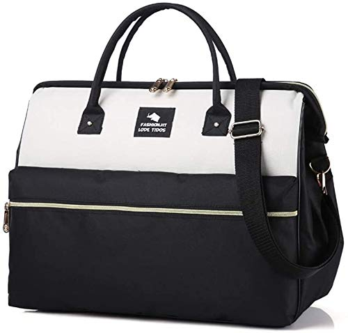 GQY Luggage - suitcase on wheels Travel bags Wheeled luggage - approved to carry cabin (Color : Noir+blanc, Size : Les petites)