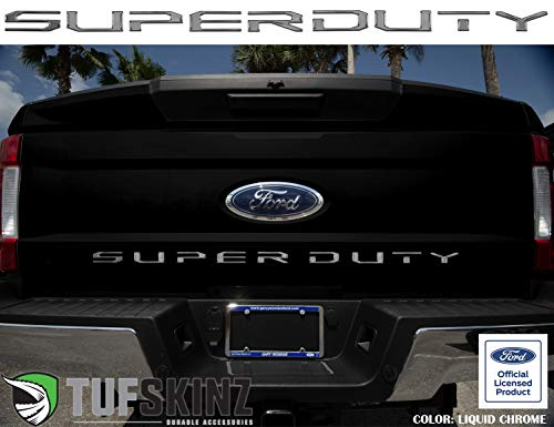 TufSkinz | Tailgate Letter Inserts - Compatible with 2017-19 Super Duty(Liquid Chrome)