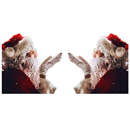 Santa Car Window Stickers Christmas 3D Cartoon Car Window Cover Auto Covers Realistic Car Sticker (Left & Right)