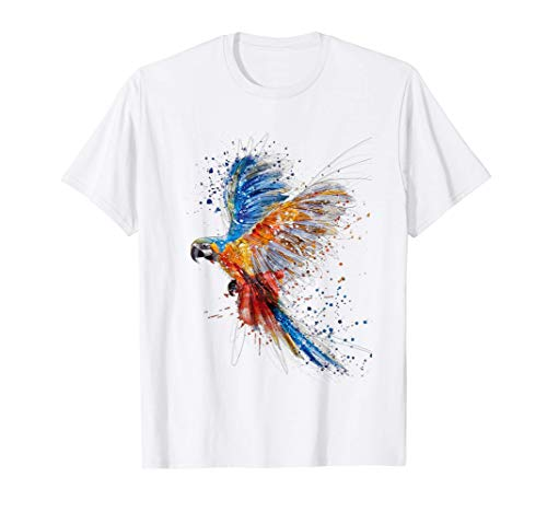Papagei T-shirt Ara Vogel Anime Manga Shirt Männer Frauen T-Shirt