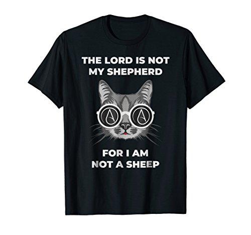 Funny Atheist Atheism Symbol Anti-Religion Cat T-Shirt