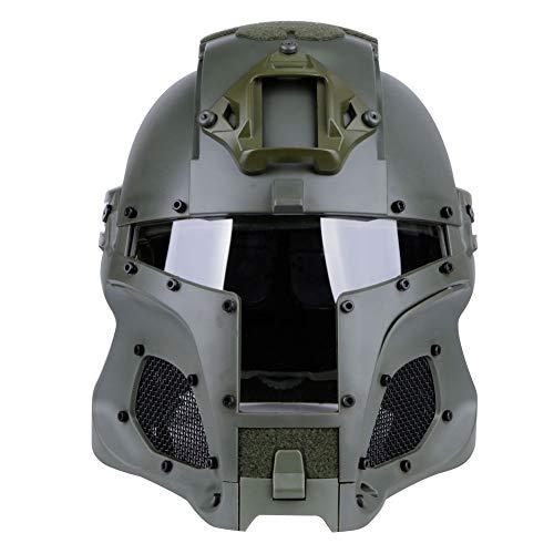 N / A PC táctica Militar de Airsoft Paintball Lente Casco táctico, máscara Completa de Paintball Casco Airsoft