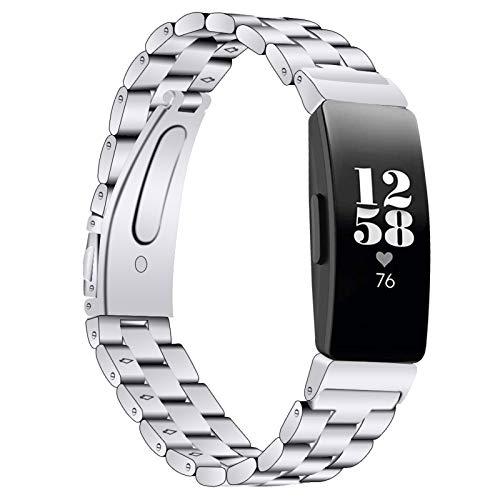 Miya System Ltd Compatible con Inspire, Pulsera de Acero Inoxidable con Joyas Brillantes Bandas de Reloj de Diamantes de imitación Correa para Inspire/Inspire HR/Ace 2 (Astilla)