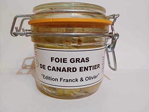 Entenleber Entier 180g im Glas, Edition Franck et Olivier. Ganze Stücke, geschützte Herkunft IGP France Sud-Ouest. Mehrfach prämiert. Hersteller Danos