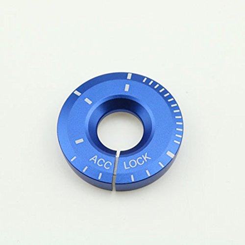 Muchkey® Zündschloss-Abdeckung Autozubehör Dekorations-Ring Schutzabdeckung 1 Stück Blau