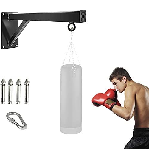 Whchiy Pesanti Supporto Sacco da Boxe Professionale Staffa da Parete per Sacco Boxe per Allenamento Indoor ed Esercizio a casa, Lunghezza (50cm)