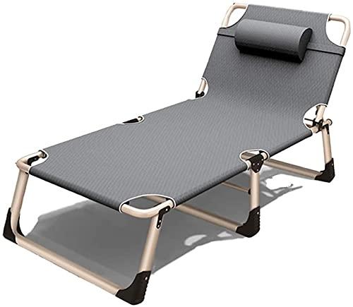 Silla plegable al aire libre reclinable Silla de cubierta de silla de silla de silla de salón ajustable Silla de cubierta Silla de la cubierta Patio Sillón Silla Cosquero Casa plegable Camping Cuna Si