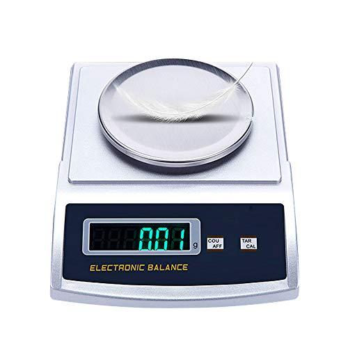 CGOLDENWALL 0.1g/0.01g/0.001g Balanza Analítica de Laboratorio Electrónica Báscula de Alta Precisión Comercial Escala Preciosa Ideal para Lab Cocina Joyería Ya Calibrado (100g, 0.001g con Parabrisas)
