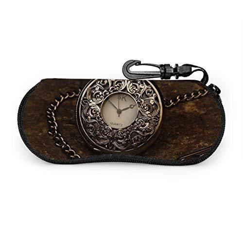 Bran-don Reloj de tiempo vintage Gafas de sol de piedra plateada con...