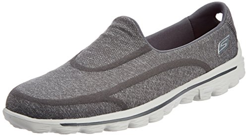 Skechers Performance Women's Go Walk 2 Super Sock Slip-On Walking Shoe,Old Charcoal,8 M US