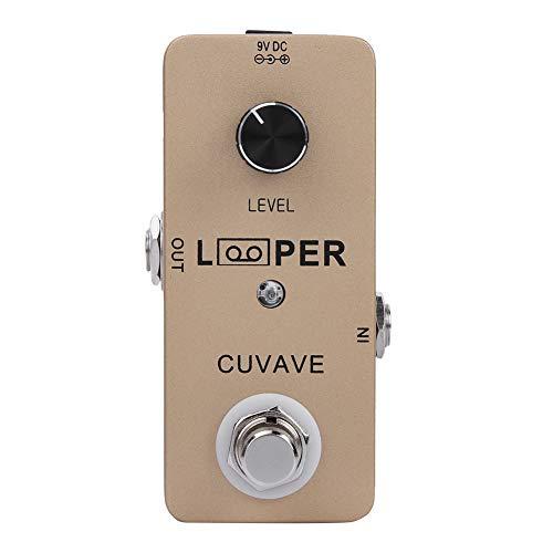 Pedal de efectos de guitarra, Pedal de efecto de guitarra Mini Looper Pedal de efectos de guitarra Carcasa de metal completa Accesorios de guitarra Tiempo de grabación de 5 minutos