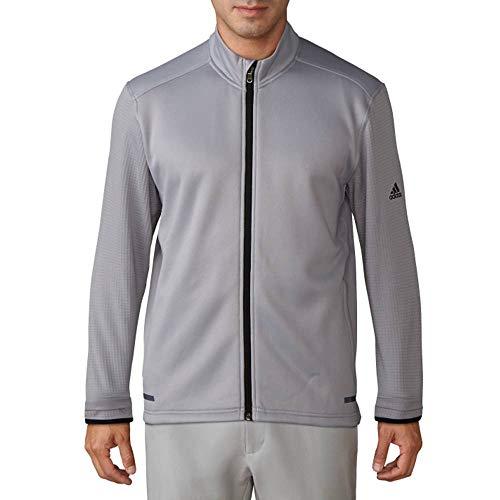 adidas Golf Men's Golf Climaheat Hybrid Full Zip Jacket, Mid Grey, Large