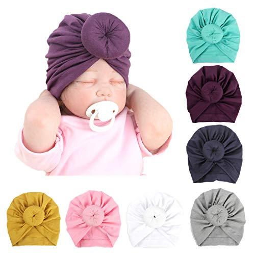 Simoda 7/8 Stück Kinder Baby Böhmischen Turban Stirnbänder Super Weiche Baumwolle Nette Turban Knot Caps (7 Stück)