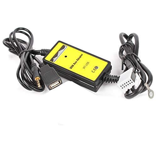 Nrpfell Conector De 12 Pines Adaptador De Música Mp3 De Audio Aux USB De Radio De Coche Cambiador De CD Interfaz para Audi A4 R8 TT S4 A3